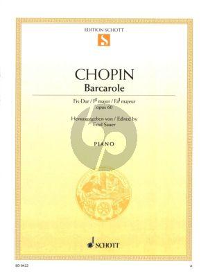 Chopin Barcarolle F-sharp major Op. 60 Piano (Emil Sauer)