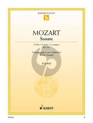 Mozart Sonate A-dur KV 331 Klavier (Walter Georgii)
