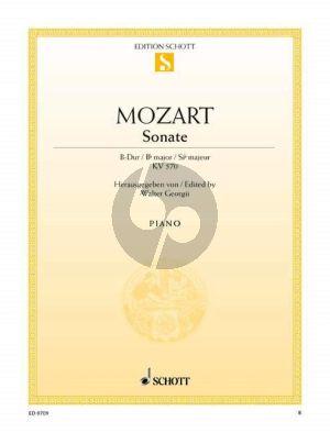 Mozart Sonate B-dur KV 570 Klavier (Walter Georgii)