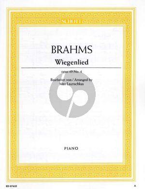 Brahms Wiegenlied Op.49 No.4 (Guten Abend Guten Nacht) Piano Solo (Edited by Max Laurischkus)