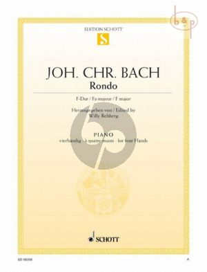 Bach Rondo F-dur Klavier 4 Hd. (ed. Willy Rehberg)
