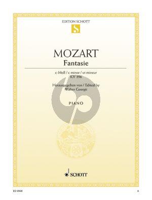 Mozart Fantasie c-moll KV 396 Klavier (Walter Georgii)