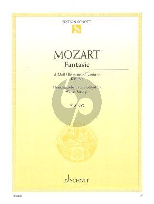 Mozart Fantasie d-moll KV 397 Klavier (Edited by Walter Georgii)