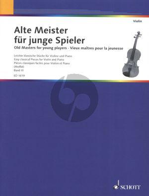 Album Alte Meister fur Junge Spieler (Old Masters for Young Players) Vol.3 Violine und Klavier (Moffat) (Grade 1 - 3)