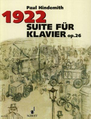 Suite 1922 Op.26 Klavier