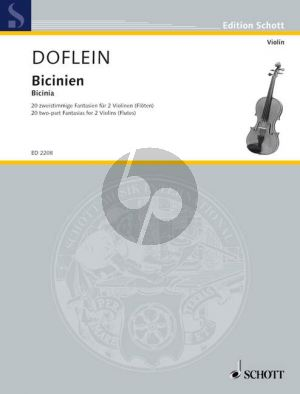 Bicinien (two-part Fantasias from around 1600) (edited by E.Doflein) (Grade 2 - 3)