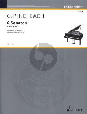 Bach 6 Sonaten Vol.1 No.1-3 Klavier oder Cembalo (18 Probestücke zu dem Versuch über die wahre Art das Klavier zu spielen) (Herausgegeben von Erich Doflein)