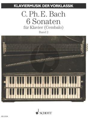 Bach 6 Sonaten Vol.2 No.4-6 Klavier oder Cembalo (18 Probestücke zu dem Versuch über die wahre Art das Klavier zu spielen) (Herausgegeben von Erich Doflein)