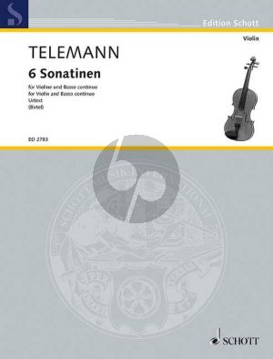 Telemann 6 Sonatinen Violine und Bc (Vc.ad lib.) (Wolfgang Birtel) (Neuausgabe Urtext)