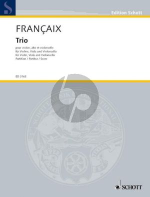 Francaix Trio C-major Violin-Viola and Violoncello (1933) (Study Score)