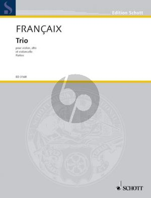 Francaix Trio C-major Violin-Violaand Violoncello (1933) (Parts)