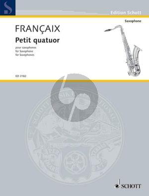 Francaix Petit Quatuor 4 Saxophonen (SATB) (1935) (Stimmen)