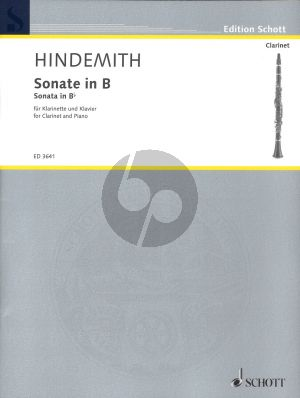 Hindemith Sonate in Bb for Clarinet and Piano (1939)