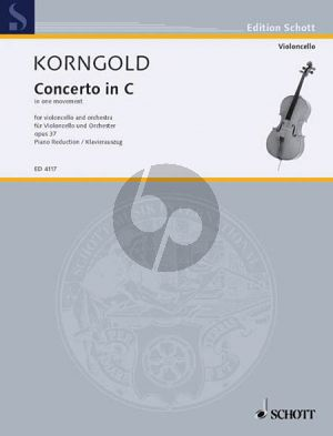 Korngold Concerto C-major (in One Movement) Op.37 (1946) Violoncello