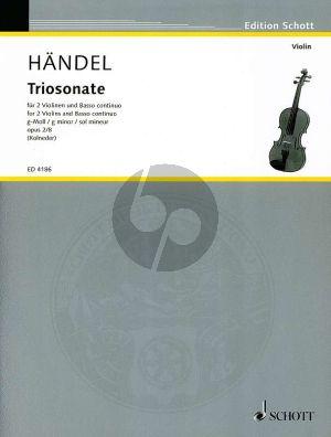 Handel Triosonate Op.2 No.8 HWV 393 g-moll 2 Violinen und Bc (Herausgegeben von Walter Kolneder)
