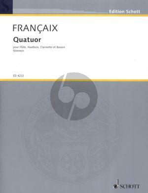 Francaix Quatuor (1933) Flote-Oboe-Klarinette in Bb-Fagott Stimmen