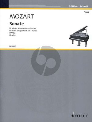 Mozart Sonate C-dur KV 19d for Piano 4 Hands (Alex Rowley)