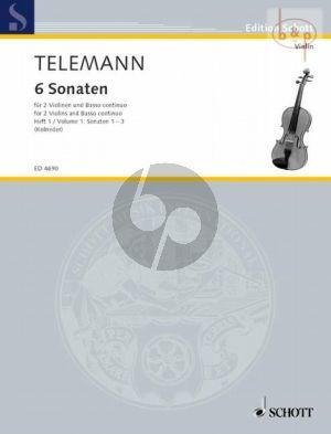 6 Sonaten vol.1 (No.1 - 3) (2 Violins-Bc) (Vc./Va.da Gamba ad lib.)