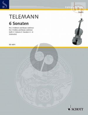 6 Sonaten Vol.2 (No.4 - 6) (2 Violins-Bc.) (Vc./Va. da Gamba ad lib.)