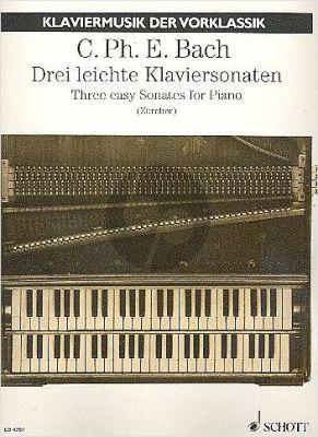 Bach 3 Leichte Sonaten (C-dur, F-dur und C-dur) (Johann Zuercher)