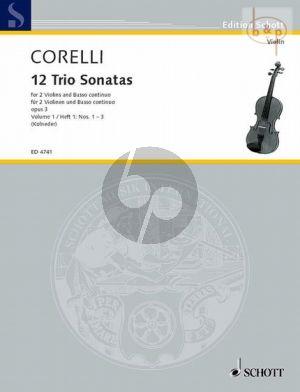 12 Triosonatas Op.3 Vol.1 (No.1 - 3) (2 Vi.-Bc)