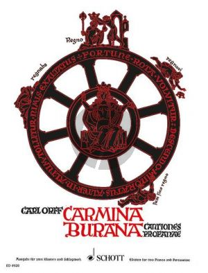 Orff Orff Carmina Burana (soloists (STBar)-mixed choir (SATB)-children's choir-2 pianos and percussion) (Vocal Score with reduction for 2 piano's)