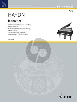 Haydn Concerto F-dur Hob.XIII:3 Piano (Cembalo)-Strings-2 Horns ad lib. (piano red.)