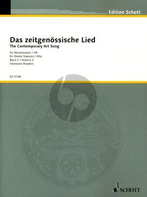 Album Das Zeitgenossische Lied Vol.2 Mezzosopran / Alt und Klavier (Herausgegeben von Hermann Reutter)