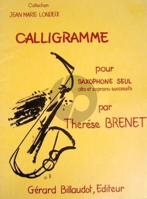 Brenet Calligramme Alto Saxophne (vary with Tenor Sax.)