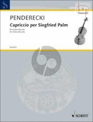 Penderecki Capriccio per Siegfried Palm Violoncello solo (1968) (difficult)