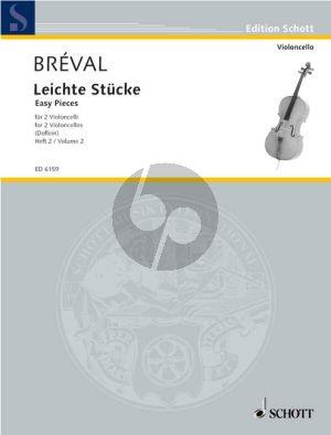 Breval Leichte Stucke vol.2 2 Violoncellos (Erich Doflein)