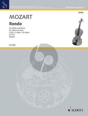 Mozart Rondo C-dur KV 373 Violine und Klavier (Max Rostal)