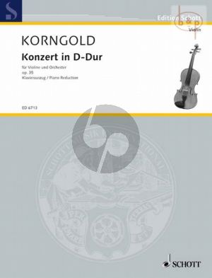 Korngold Concerto D-major Op.35 (Violin-Orch.) (piano red.)