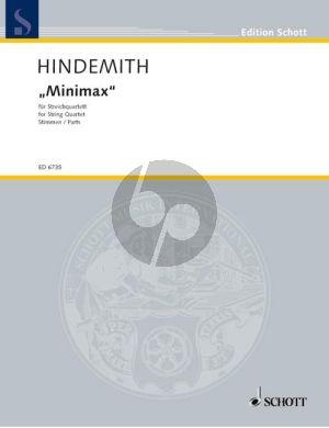 Hindemith Minimax (1923) fur 2 Violinen-Viola.-Violoncello Stimmen (Repertorium für Militärorchester)