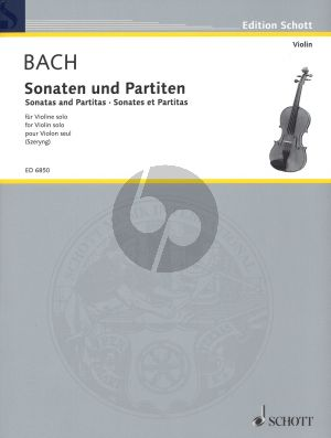 Bach 6 Sonatas & Partitas Violine Solo (BWV 1001 - 1006) (Edited by Henryk Szeryng)