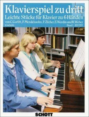 Klavierspiel zu Dritt Vol.1 Klavier 6 Hd.
