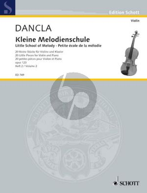 Dancla Kleine Melodienschule Op.123 Vol.2 Violin-Piano