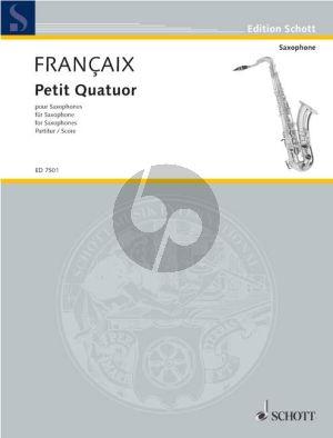 Francaix Petit Quatuor 4 Saxophonen (SATB) (1935) (Partitur)