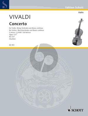 Konzert g-moll RV 317 Op.12 No.1 Violin-Strings-Bc.