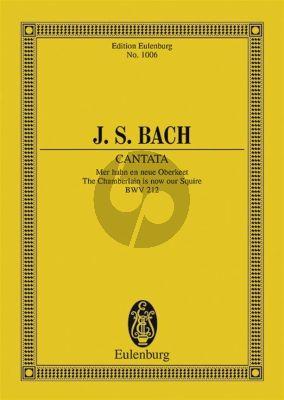"""Kantate BWV 212 """"Bauernkantate"""" Studienpartitur"""