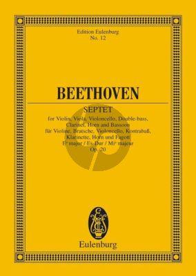 Septett Es-dur Op.20 Vi.-Va.-Vc.-Db.-Klar.-Horn-Fag. Studienpartitur
