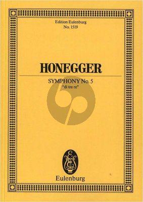 "Honegger Symphonie No.5 ""di tre re"" Studienpartitur (Herbert Schneider)"