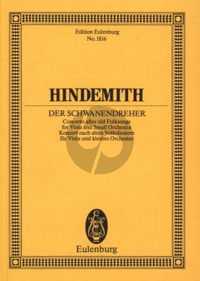 Hindemith Der Schwanendreher Studienpartitur (Konzert nach alten Volksliedern)
