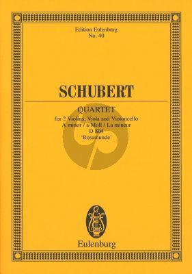 Schubert Streichquartett a-moll Op.29 (D 804) (Rosamunde) (Taschenpartitur)