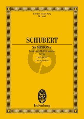 """Schubert Symphonie No. 8 """"Unvollendete"""" Studienpartitur"""