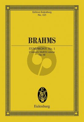 Brahms Symphony No.1 c-minor Op.68 Orchestra Study Score (edited by Richard Clarke)
