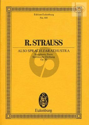 Also Sprach Zarathustra Op.30 (Tone Poem) (Study Score)