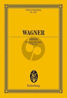 Wagner Rienzi Ouverture WWV 49 Study Score (edited by Reinhard Strohm and Egon Voss)