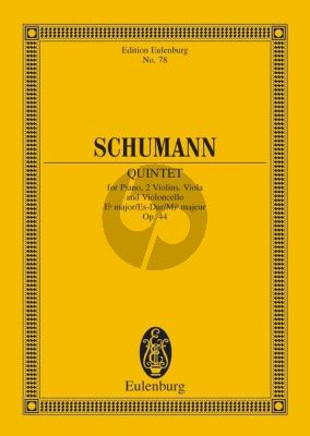Schumann Quintet E-flat major Op.44 Piano-Strings Study Score