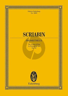 Scriabin Prometheus Op.60 The Poem of Fire (Edition Faubion Bowers) (Study Score)